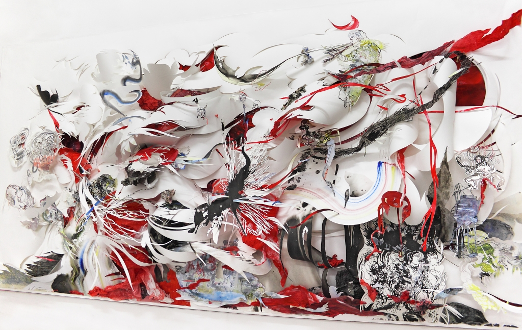 nadja_schoellhammer_incorporator_2013_cut_outs_versch_papiere_tusche_aquarell_graft_etc_auf_panzerpappe_123_x_244_x_32_cm